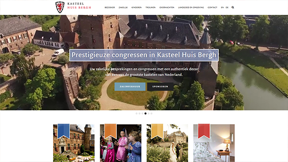 Website refreshment Kasteel Huisbergh